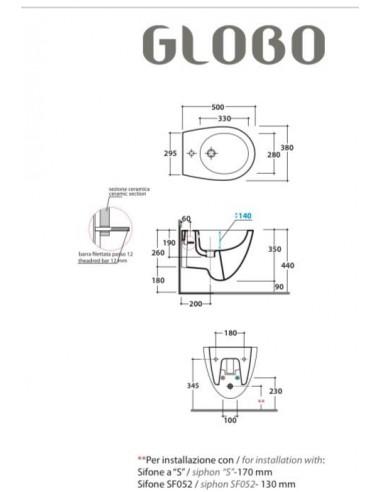 Ceramica Globo Bowl + bidet sospeso...