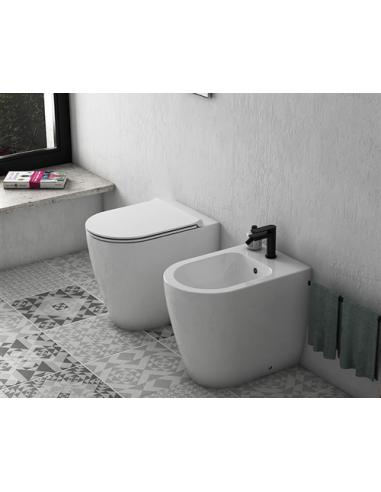 Ceramica Globo Mode Wc A Terra Senza Brida 53x34 Me001 Riveshop