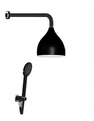 Set doccia ottone cromato black Damast