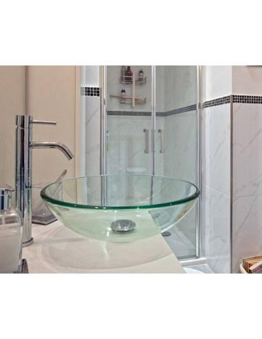 Lavabo tondo aria cristallo trasparente