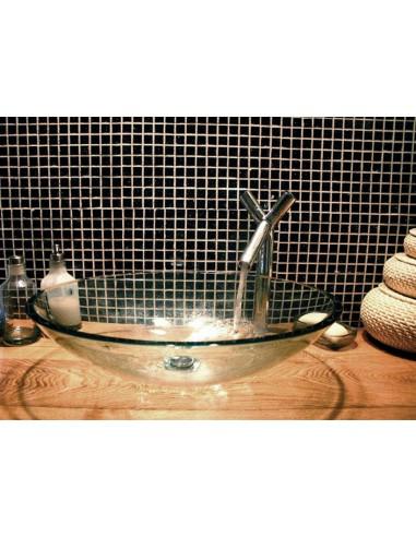 Lavabo ovale aria cristallo trasparente