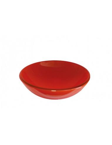 Lavabo tondo unicolor cristallo rosso