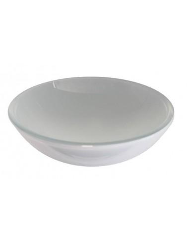 Lavabo tondo unicolor cristallo bianco