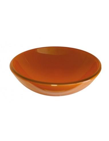 Lavabo tondo unicolor cristallo arancio