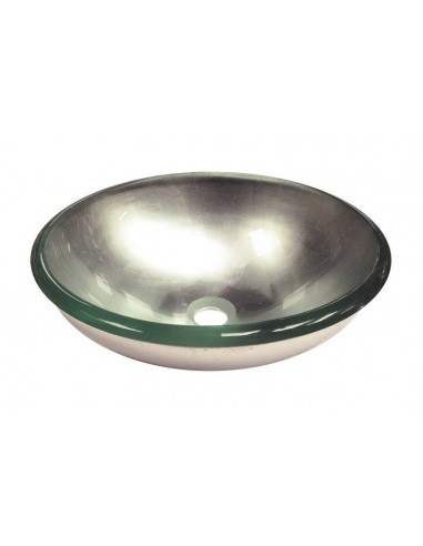 Lavabo tondo cristallo platino