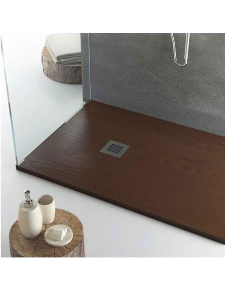 Piatto doccia resina effetto legno